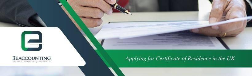 Applying for Certificate of Residence in the UK